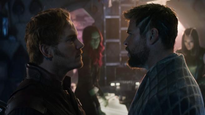 Chris Pratt y Chris Hemsworth en 'Vengadores: Infinity War'