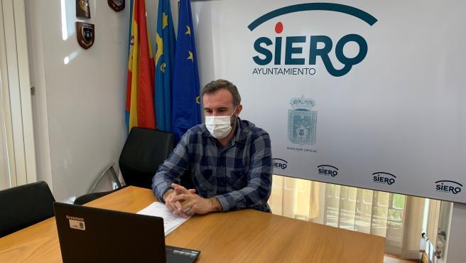 El concejal de Hacienda de Siero, Alberto Pajares