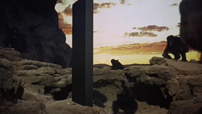 El monolito de la película '2001: Una odisea del espacio' (1968)