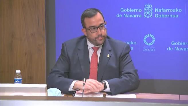 El portavoz del Gobierno de Navarra, Javier Remírez.