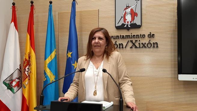 Marina Pineda, portavoz del Ayuntamiento de Gijón