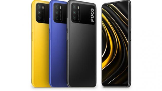 El POCO M3 está disponible en amarillo, azul y negro