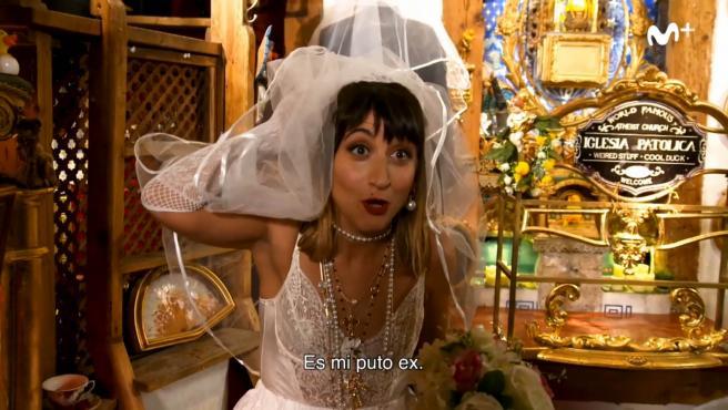 Susi Caramelo, en el momento de descubrir quién era su novio y futuro marido.