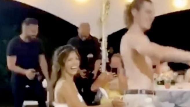 El momento del baile de los novios.