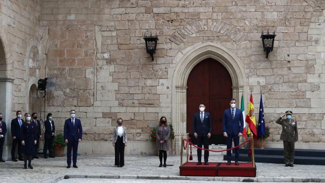 El presidente del Gobierno y el primer ministro de Italia, durante la cumbre bilateral de este miércoles en Palma.