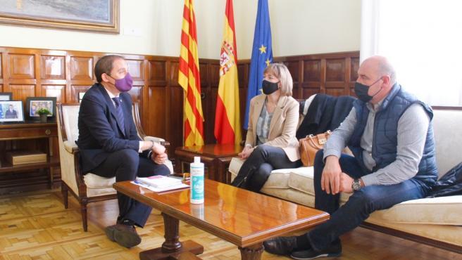 José Cresín, Mercè Gisbert y Francesc Torres