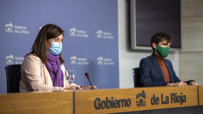 La consejera de Salud, Sara Alba, y el director general, Pello Latasa