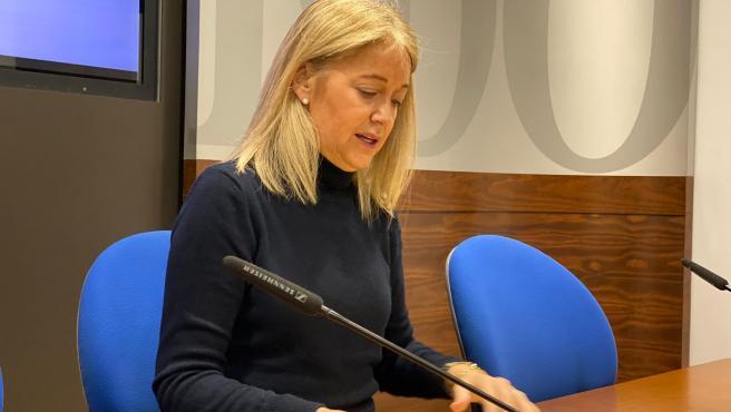 La portavoz de Vox en el Ayuntamiento de Oviedo, Cristina Coto.