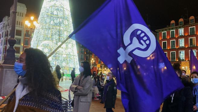 Participantes en la manifestación en el Día Internacional contra la Violencia de Género.