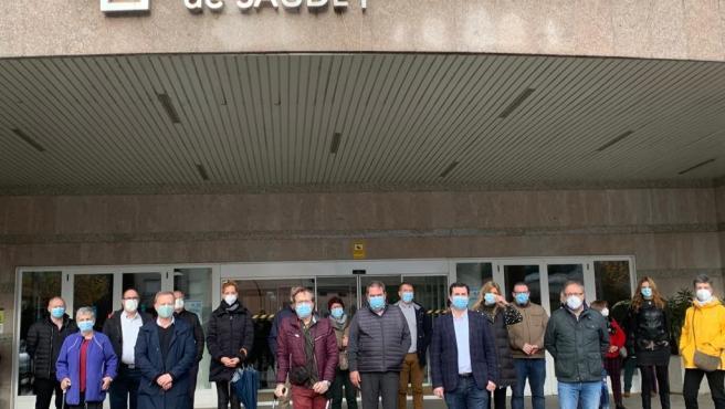 El secretario xeral del PSdeG, Gonzalo Caballero, visita el hospital de Verín (Ourense)