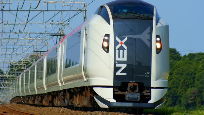 Imagen de archivo de un tren japonés de Narita Express, llamado comúnmente N'EX.