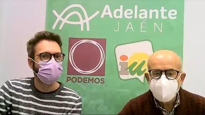 Javier Ureña y Juan Checa informan sobre la moción.