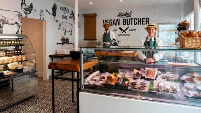 Imagen del interior de Rudy's, la carnicería vegana de Londres.