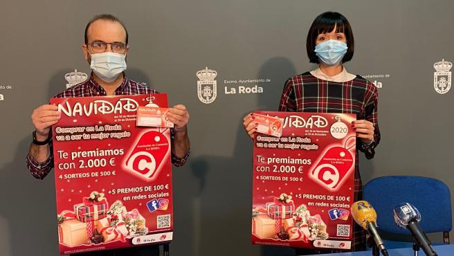 Presentación de la campaña de apoyo al comercio de La Roda.