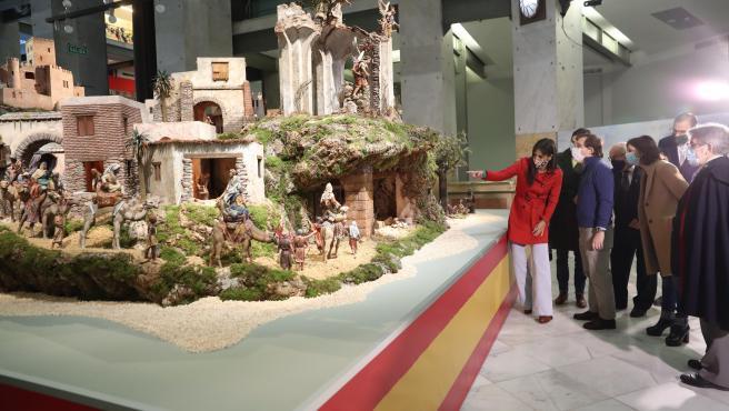Inauguración del belén del Ayuntamiento de Madrid.