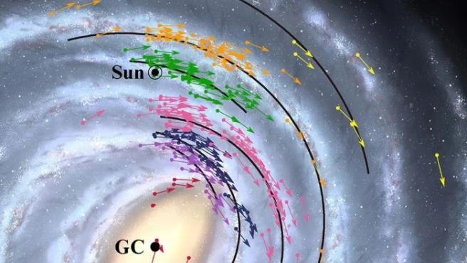 Astrónomos japoneses han rediseñado el mapa de la Vía Láctea.