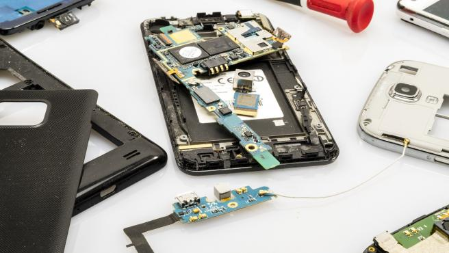 Reparación de un móvil.