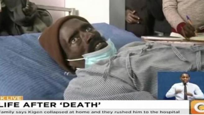 Imagen del keniata que 'resucitó' cuando iba a ser embalsamado.