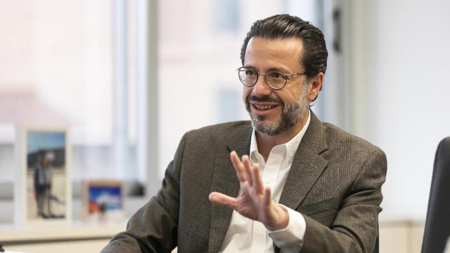 El consejero de Hacienda de la Comunidad de Madrid, Javier Fernández-Lasquetty, durante la entrevista con 20minutos.