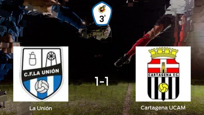 La Unión y el Cartagena F.C. UCAM reparten los puntos tras empatar a uno