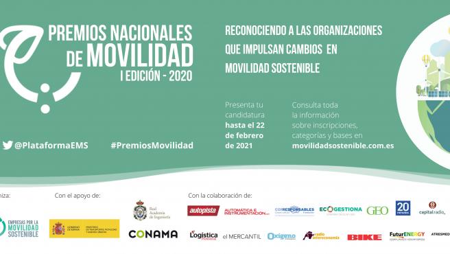 Cartel Premios Nacionales Movilidad 2020