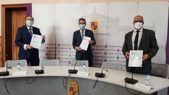 Imagen de la presentación del borrador del presupuesto de 2021 del Ayuntamiento de Palencia.