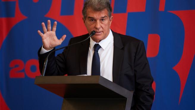 Joan Laporta en su presentación como candidato a las elecciones del Barça.