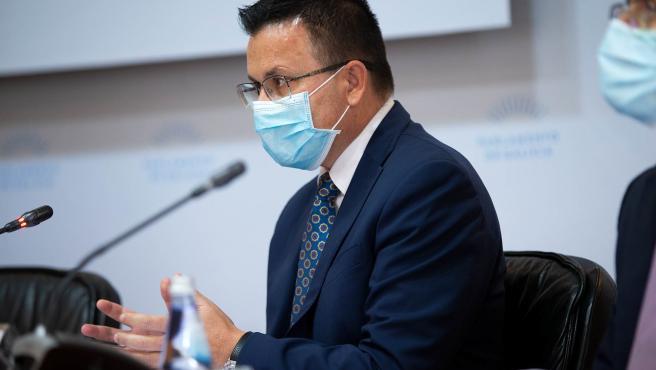 12,30 h.- O conselleiro do Medio Rural, José González, comparecerá na Comisión 3ª para presentar os orzamentos e as distintas liñas de actuación da Consellería en 2021. foto xoán crespo 01/12/2020