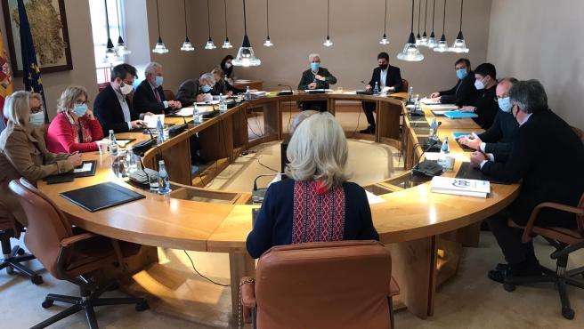 Junta de Portavoces del Parlamento de Galicia, el 1 de diciembre de 2020
