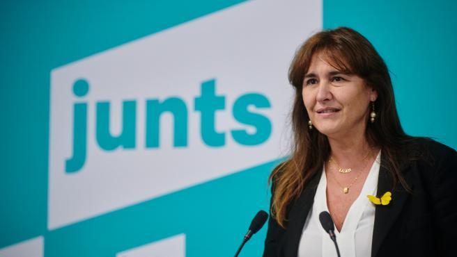 Laura Borràs tras ganar las primarias de JxCat.