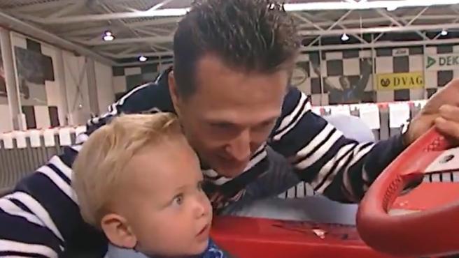 Mick Schumacher y Michael Schumacher en el año 2000