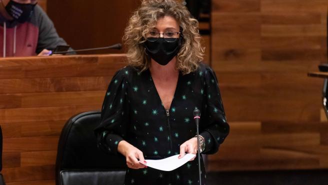 Susana Fernández en la Junta General.