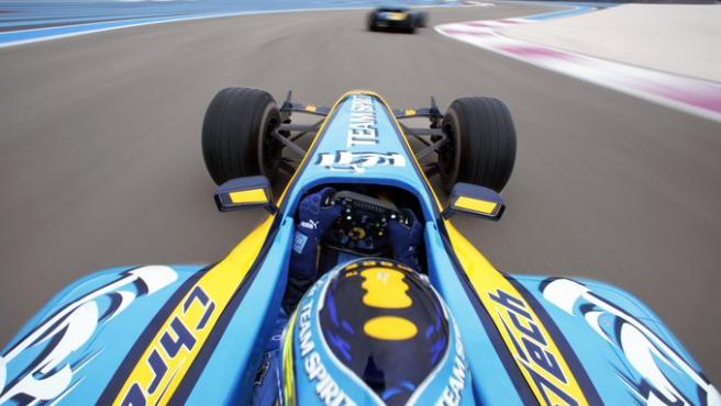 Fernando Alonso, en el R25.