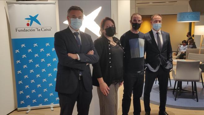 Fundación 'la Caixa', CaixaBank y Valverde Team-Terra Fecundis sellan su acuerdo solidario