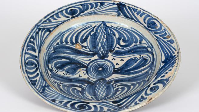 Pieza de la exposición 'Loza de Talavera: Patrimonio Inmaterial de la Humanidad'