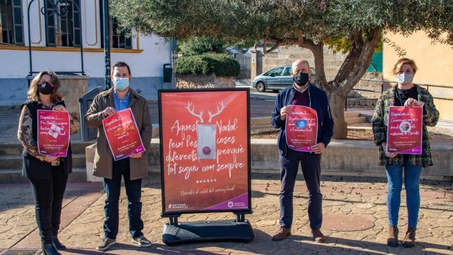 Presentación de la campaña de apoyo al comercio local de Marratxí estas Navidades.