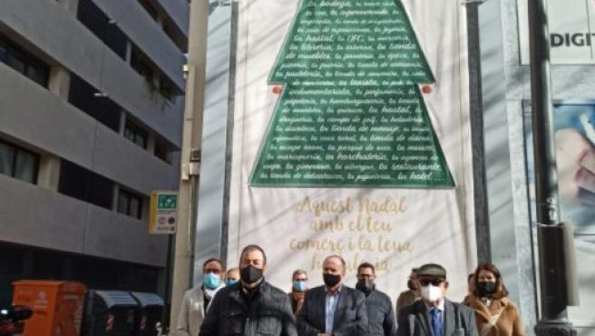 Encendido del árbol de navidad de Cámara Valencia