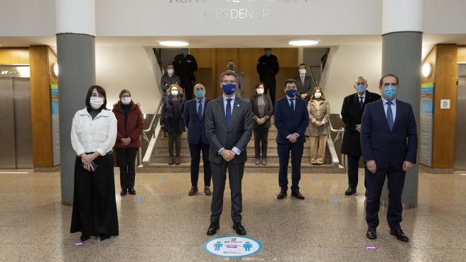 Minuto de silencio en la Xunta por el crimen machista de Gondomar