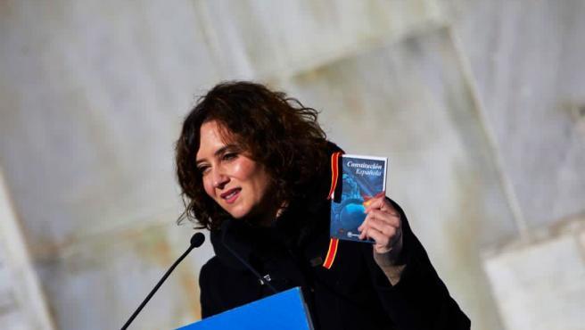 Isabel Díaz Ayuso durante el acto este sábado.
