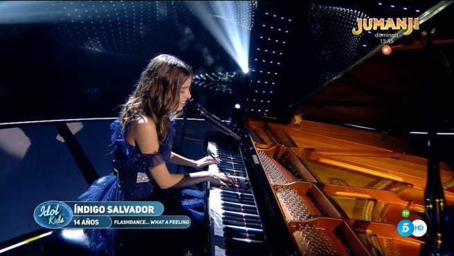 Índigo Salvador, ganadora de la primera edición de 'Idol Kids'.