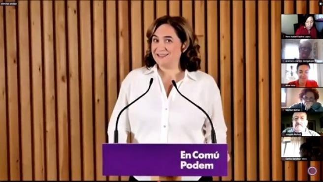 La alcaldesa de Barcelona y líder de BCComú, Ada Colau