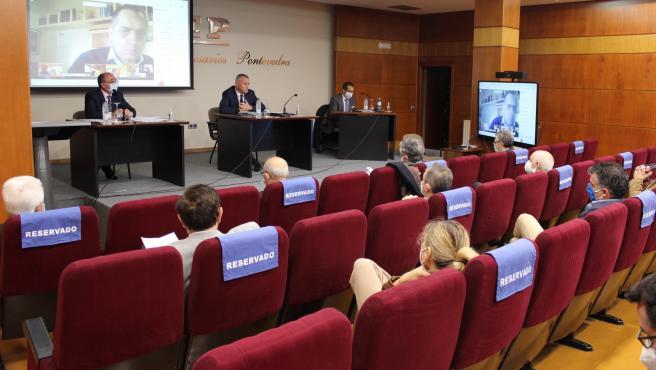Reunión del Comité Directivo y la Comisión Permanente de la Confederación de Empresarios de Pontevedra (CEP), en la que se ha valorado el resultado de las elecciones de la CEG y la dimisión de Díaz Barreiros, tras ser proclamado presi