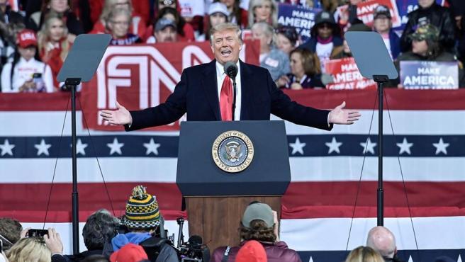 Donald Trump durante el mitin.