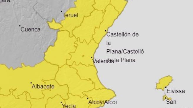 Avisos per vent a la Comunitat Valenciana