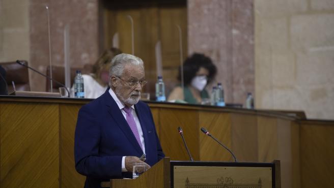 Comparecencia del Defensor del Pueblo Andaluz, Jesús Maeztu, en la primera jornada del Pleno del Parlamento Andaluz