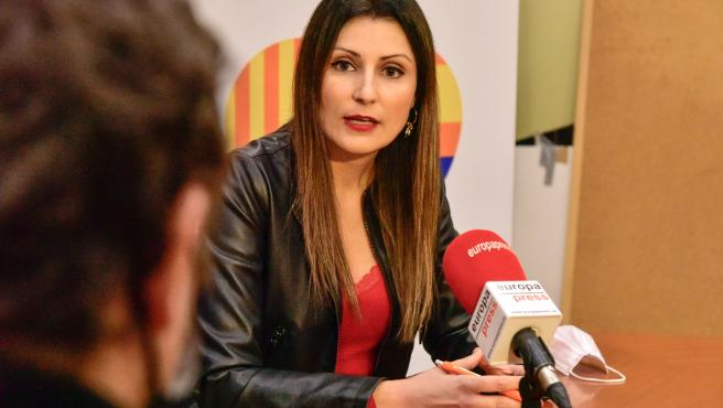 Lorena Roldán durante la entrevista