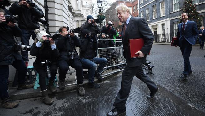 El primer ministro británico, Boris Johnson, este martes.