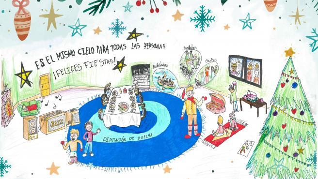Ganador del concurso infantil de dibujos navideños de Diputación