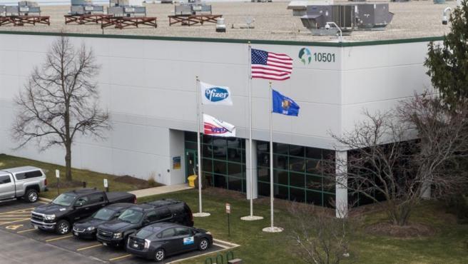 Instalaciones de Pfizer en Wisconsin, EE UU.