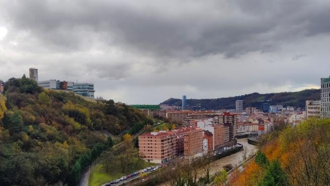 Vista de de Bilbao, barrio de La Peña